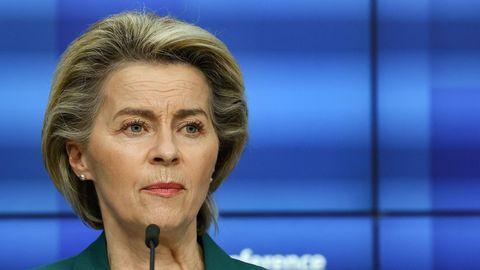 EU-Kommissionspräsidentin Ursula von der Leyen nach dem Gipfeltreffen