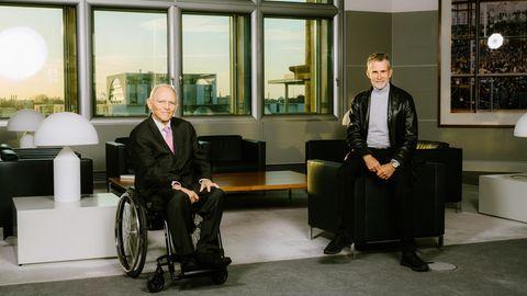 Ulrich Matthes. Wolfgang Schäuble. 22.3.2021 in Berlin
