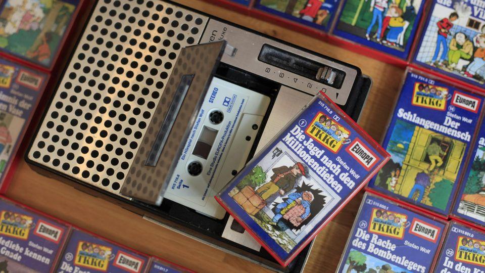 TKKG-Hörspiele und ein Kassettenrekorder
