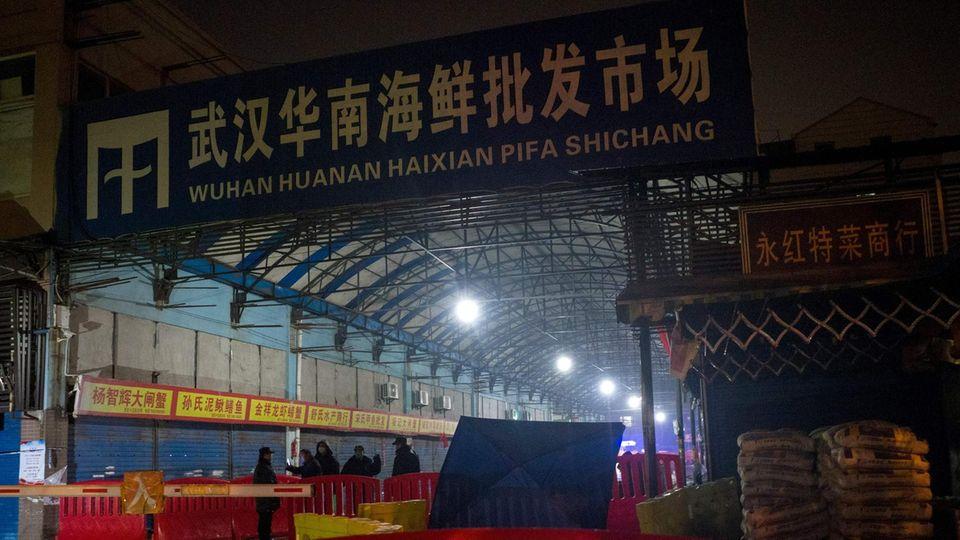 DerHuanan Seafood Wholesale Market in Wuhan