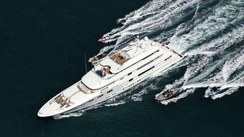 """Die 74-Meter-Jacht """"Lady E"""""""