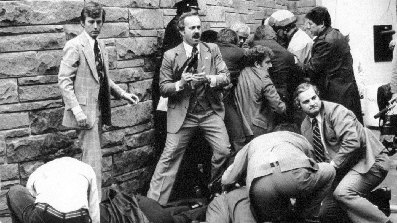 Chaos Sekunden nach dem Attentat auf Ronald Reagan am 30. März 1981