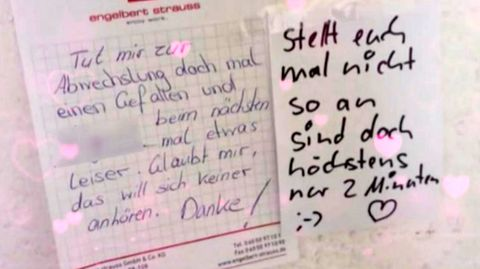 Nach lautem Sex: Nachbarn beschweren sich mit Zettel im Hausflur