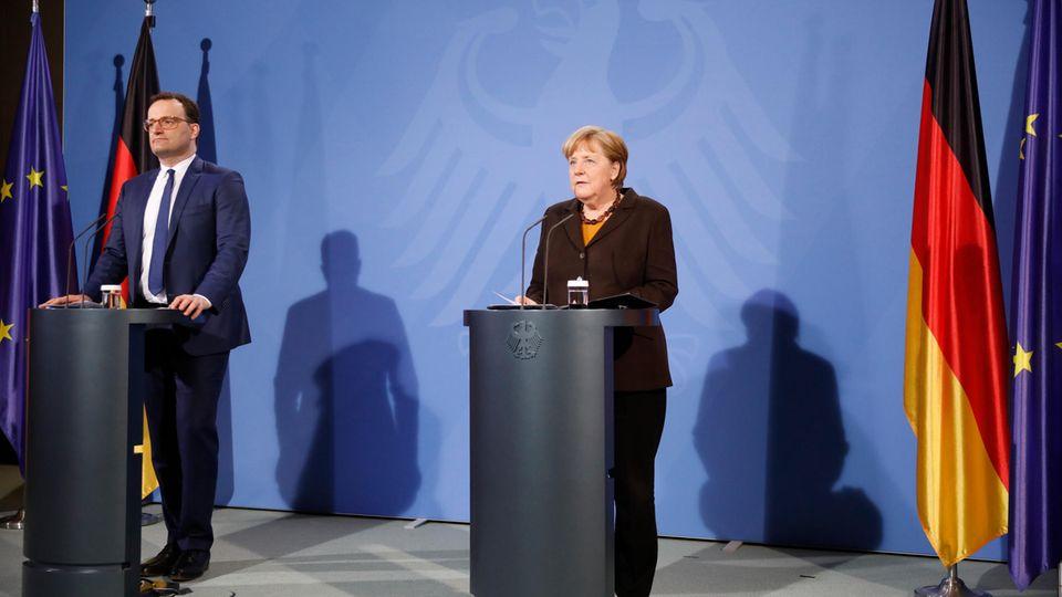 Gesundheitsminister Jens Spahn (CDU) und Bundeskanzlerin Angela Merkel (CDU)