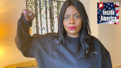 """Das rassistische Polizeisystem ist wie ein Haus das abgerissen werden muss, sagt Chivona Newsome –Co-Gründerin von """"Black Lives Matter New York"""