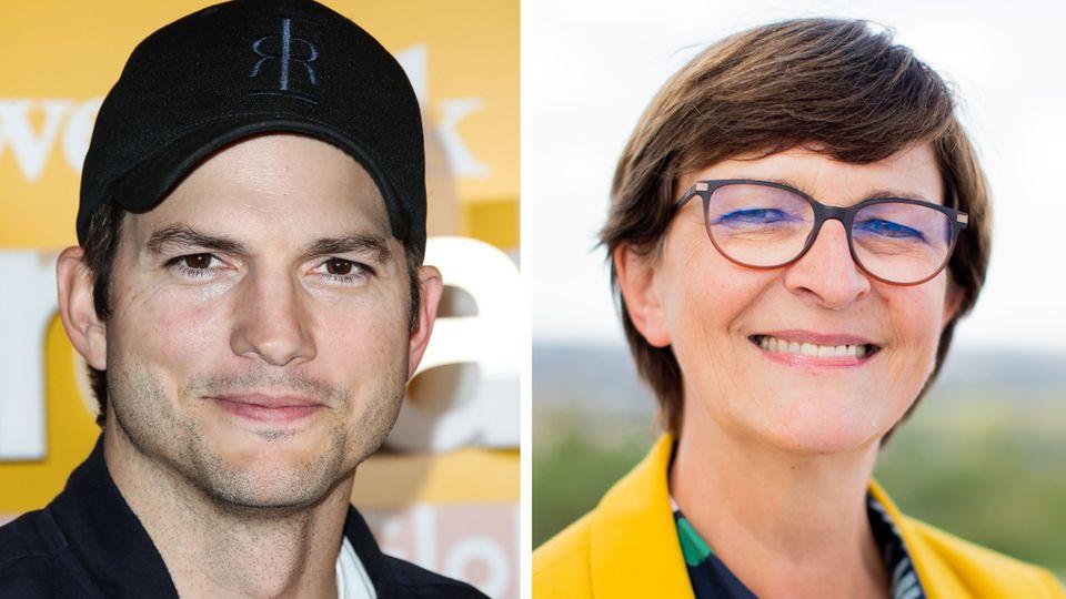 Ashton Kutcher, Saskia Esken