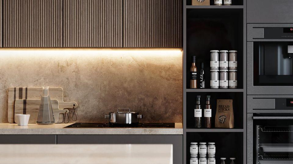 Küchenbeleuchtung kann direkt oderindirekt sein.