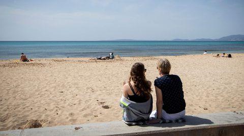Mitten in der Vorsaison auf Mallorca: Nicht viel los auf der Platja de Palma
