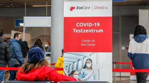 Eines der Ecocare-Schnelltestzentrum am Flughafen Düsseldorf