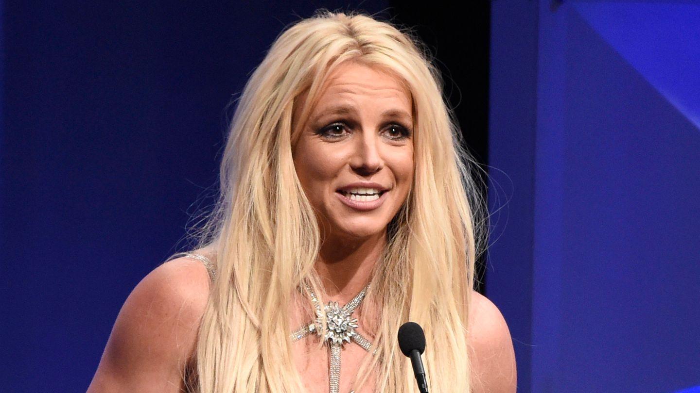 Popsängerin Britney Spears freut sich bei der Vanguard-Verleihung der 29. GLAAD Media Awards im Beverly Hilton Hotel