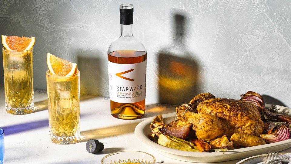 Der Starward Left-Field ist ein Alltags-Whisky, den man entspannt zum Essen trinken kann.