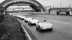 Der Boxster orientiere sich am Porsche 550 Spyder (hier in Le Mans 1955)
