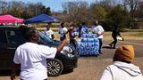 Wasserausgabe in Jackson, Mississippi