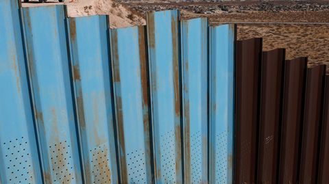 Ein Teil der Grenzmauer zwischen den USA und Mexiko