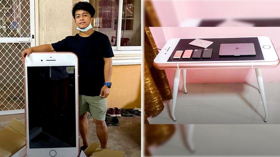 Mann bestellt iPhone und erhält Tisch