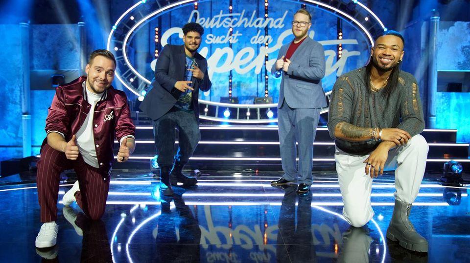 Die vier DSDS-Finalisten: Kevin, Starian, Jan-Marten und Karl
