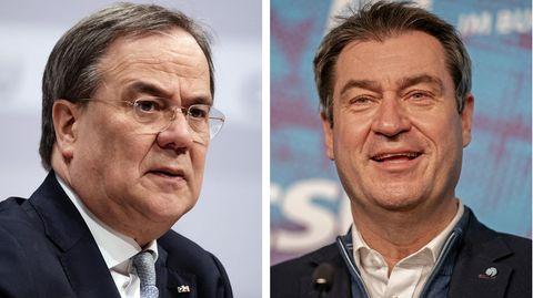 Wer führt die Union in den Bundestagswahlkampf: Armin Laschet oder Markus Söder?