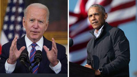 Joe Biden (l.), der alte Mann und Barack Obama (r.), der Star. Lange waren die Rollen so verteilt.