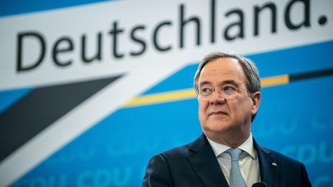 Armin Laschet, CDU-Bundesvorsitzender und Ministerpräsident von Nordrhein-Westfalen, spricht bei der Auftaktveranstaltung der Beteiligungskampagne für das Wahlprogramm der CDU zur Bundestagswahl