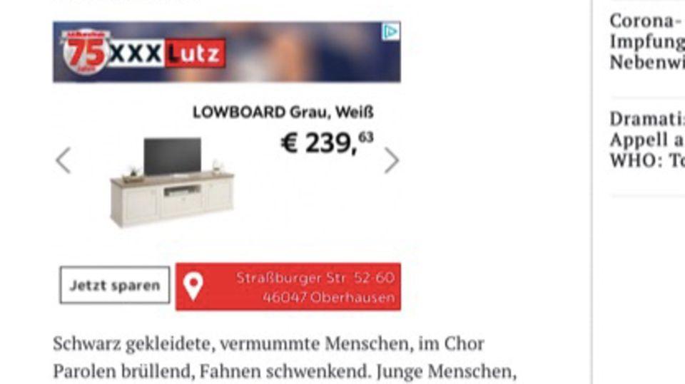 Werbung für XXXLutz