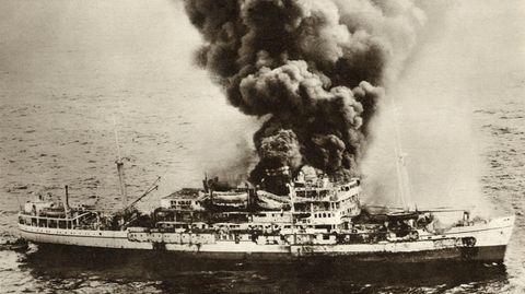 Explosion auf der MV Dara