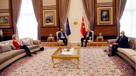 Von der Leyen und Erdogan Treffen