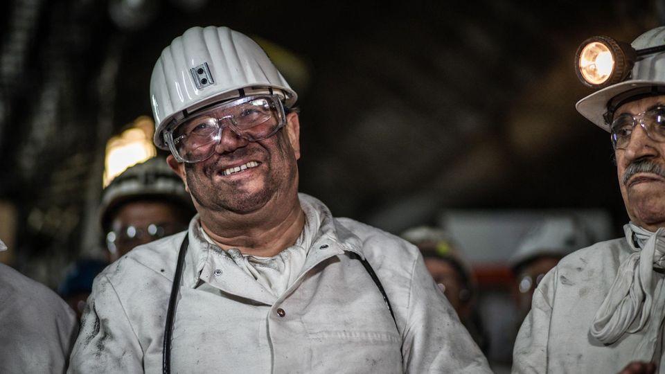 Laschet 2018 bei einer letzten Grubenfahrt auf Prosper-Haniel in Bottrop