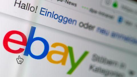 Das Logo von Ebay auf der Startseite der Internet-Verkaufsplattform
