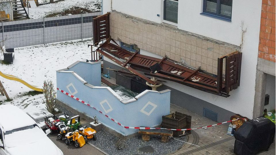 Balkon in Lenzing in Österreich