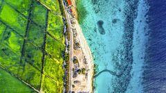 Ideales Fanggebiet an der Küste Bonaires.