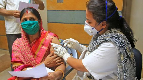 Impfung in Jaipur