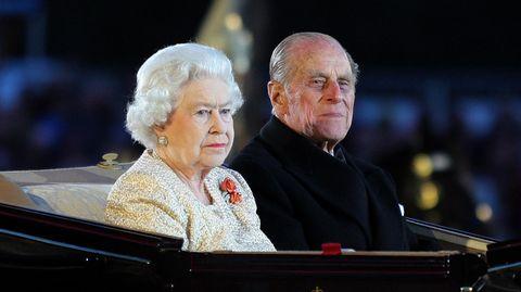 73 Jahre waren sie verheiratet: Königin Elizabeth II. und Prinz Philip 2012bei einer Parade in London.