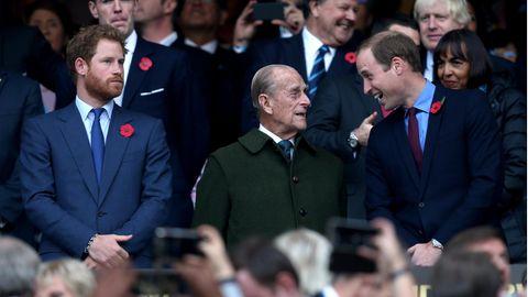 Prinz Harry, Prinz Philip und Prinz William
