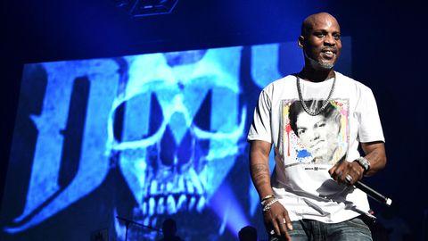 US-Rapper DMX auf der Bühne, lächelnd