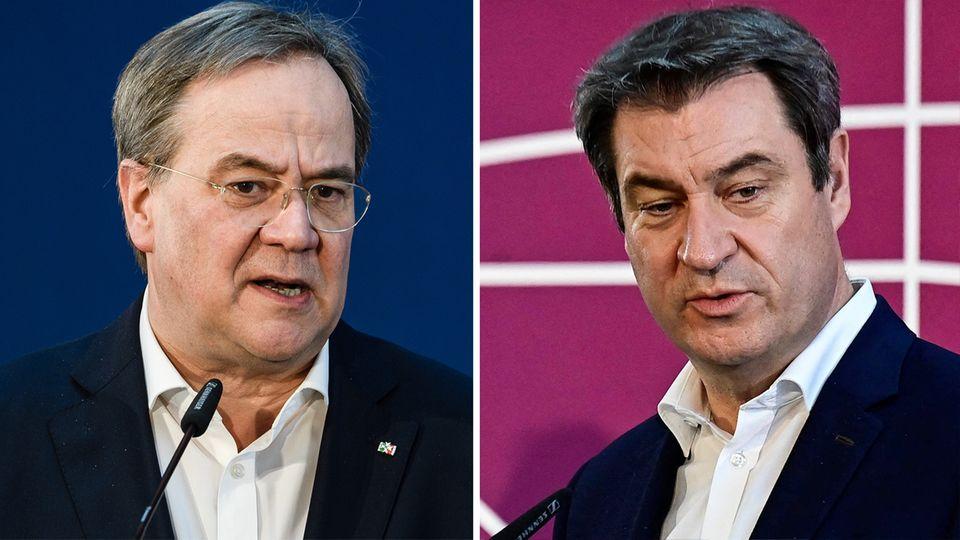 So äußern sich Laschet und Söder zur Kanzlerkandidatur