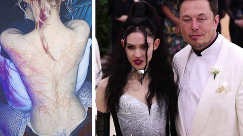 """Grimes Rücken schmückt """"Alien-Narben""""-Tattoo"""
