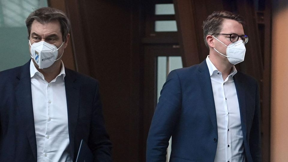 Markus Söder und Markus Blume von der CSU