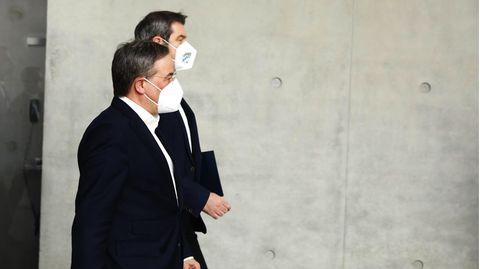 CDU-Chef Armin Laschet und CSU-Chef Markus Söder wollen Kanzlerkandidaten der Union werden