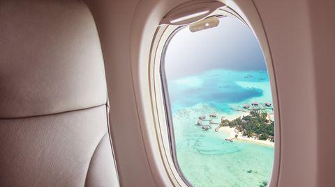 Im Landeanflug auf die Malediven