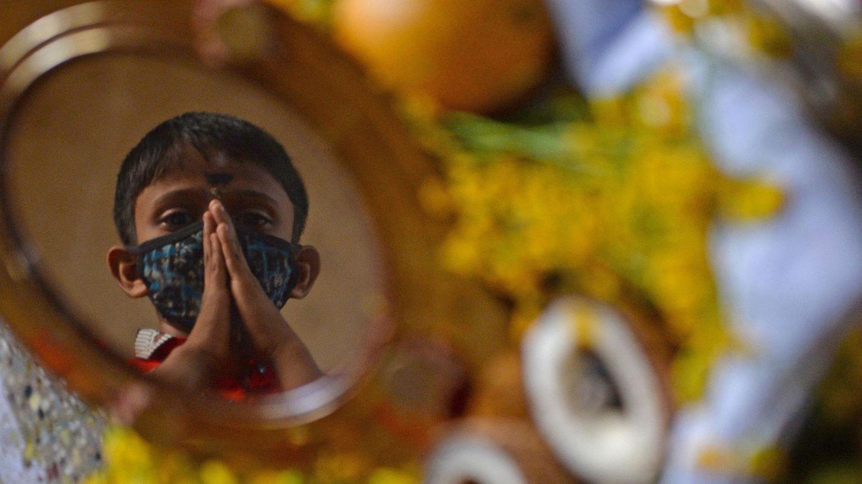 """Chennai, Indien: Gläubige feiern das """"Vishu""""-Fest"""