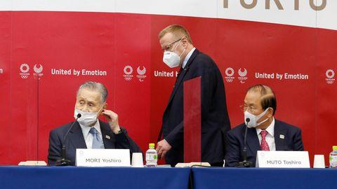 IOC-Vizepräsident Johan Coates auf einer Pressekonferenz