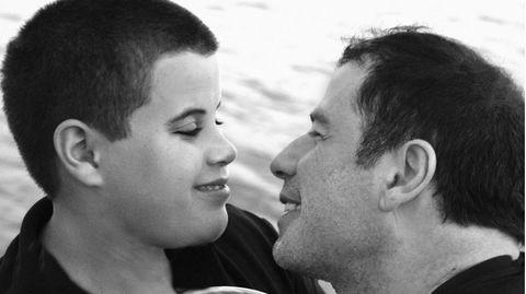Der 2009 verstorbene Jett (†16) und sein Vater, John Travolta