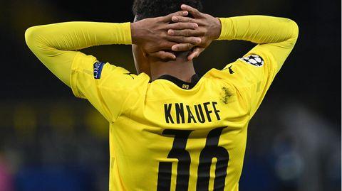 Ansgar Knauff bei Borussia Dortmund gegen Manchester City
