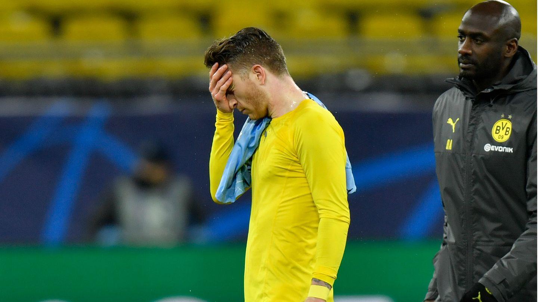 Dortmund, Deutschland: Champions-League-K. o. für Marco Reus und den BVB: Der letzte im Wettbewerb verbliebene deutsche Verein verliert in der Nacht im Signal Iduna Park sein Rückspiel gegen Manchester City mit 1:2 und scheidet aus.