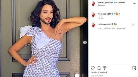 Vip News: Verona Pooth zeigt sich mit Bart