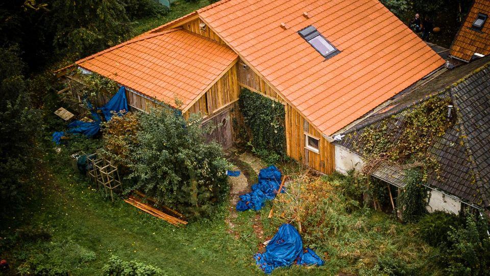 Das einsam gelegene Haus in niederländischen Ruinerwold