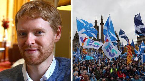 """Michael Gray (29, l.): """"Aus einer Pro-Unabhängigkeits-Perspektive gibt es viele Gründe, hoffnungsvoll zu sein"""""""