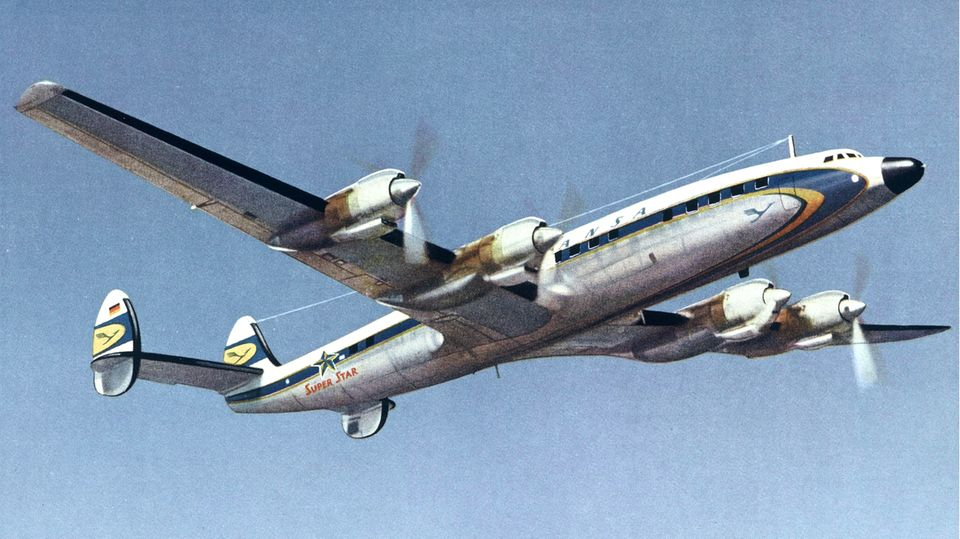 Super Constellation der Lufthansa
