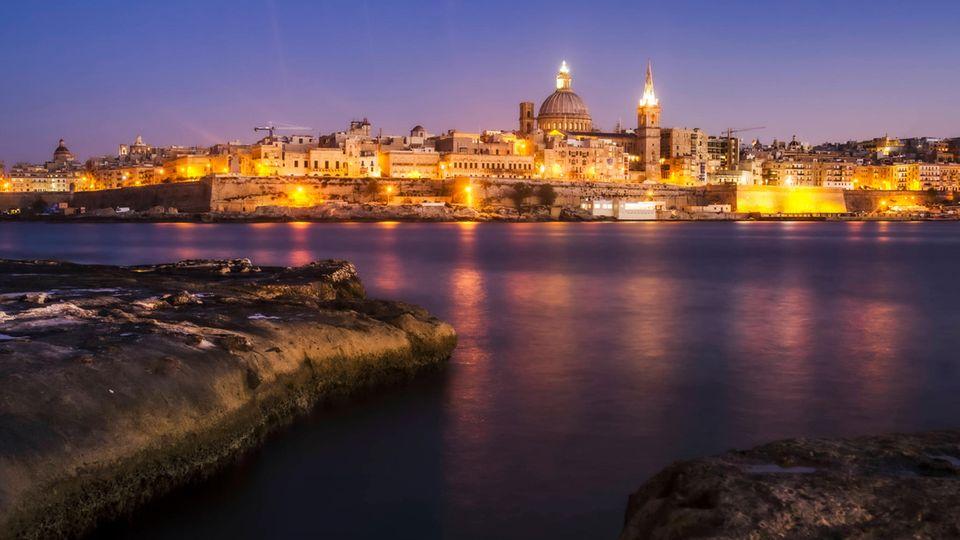 Die Stadtsilhouette von Valetta, der Hauptstadt von Malta