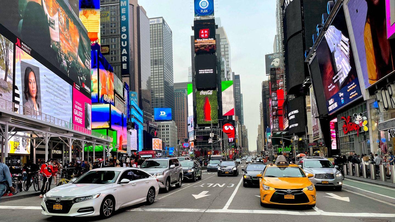 Anziehungspunkt für Besucher New Yorks: derTimes Square